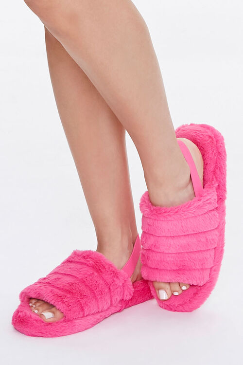 Plush Tiered Slippers, image 1