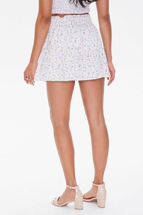 WHITE/MULTI Floral Print Mini Skirt, image 4