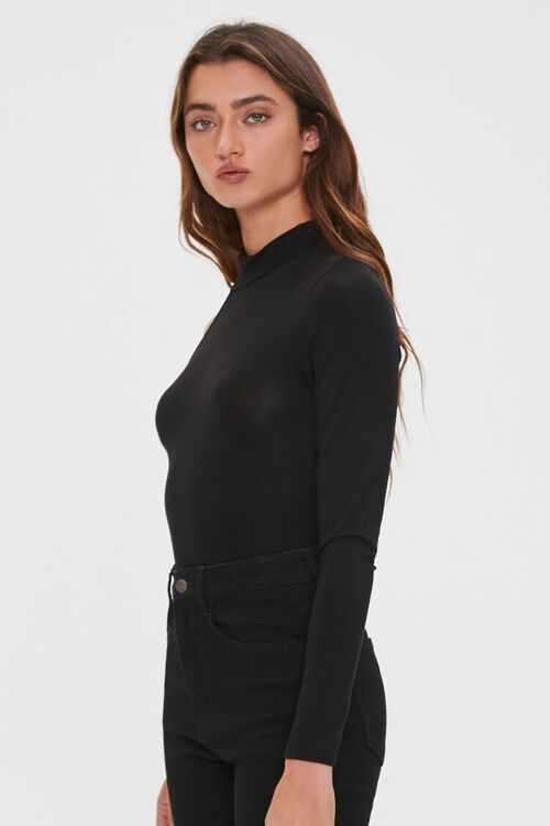 One-Sleeve Mock Neck Bodysuit, image 2