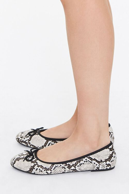 Faux Snakeskin Flats, image 2
