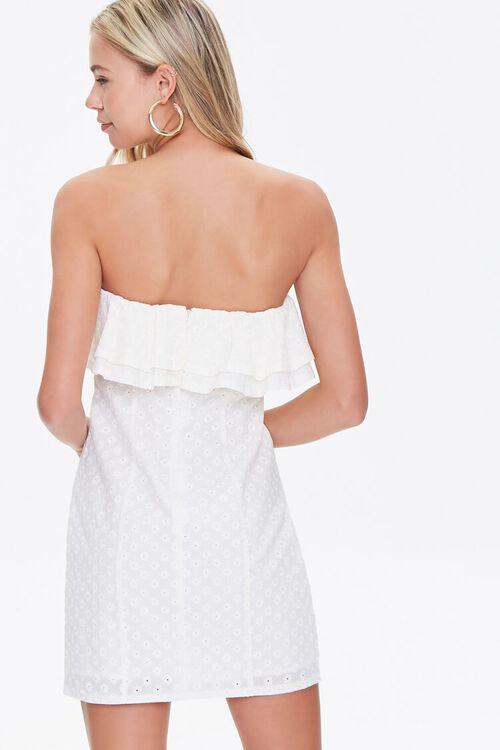 CREAM Eyelet Flounce Mini Dress, image 3