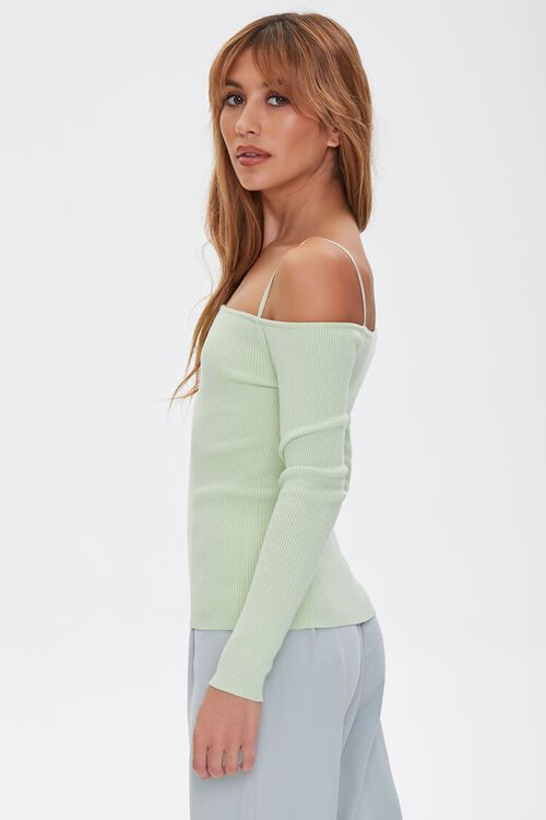Sweater-Knit Off-the-Shoulder Top, image 2
