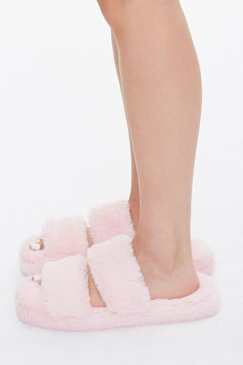 Plush Faux Fur Slippers, image 2