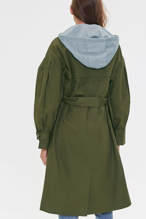 Hooded Double-Breasted Trench Coat, image 4