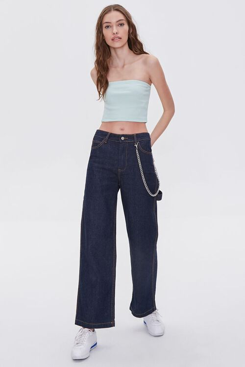 Stretch Ribbed Cropped Tube Top, image 4