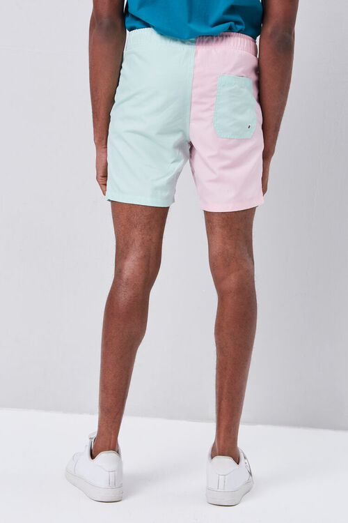 Colorblock Drawstring Swim Trunks, image 4