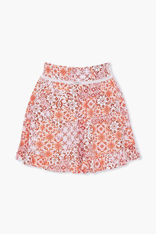 Floral Print Flounce-Hem Shorts, image 1