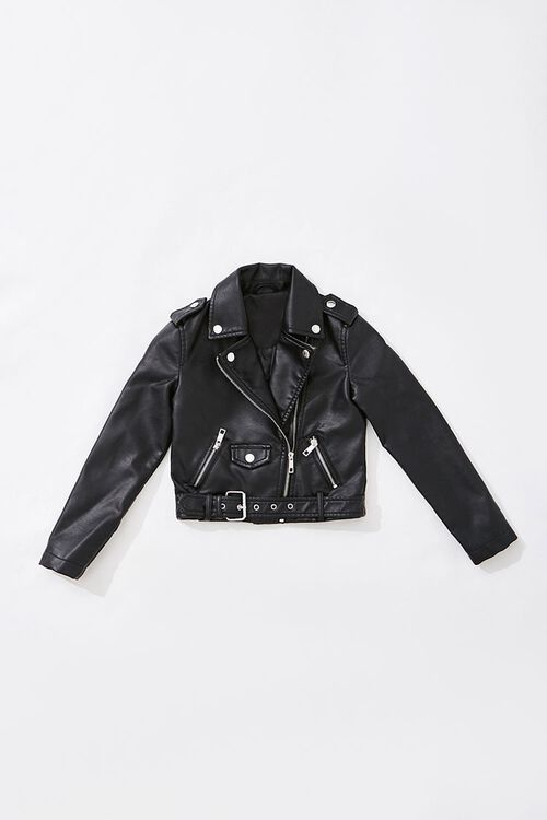 Girls Faux Leather Moto Jacket  (Kids), image 1