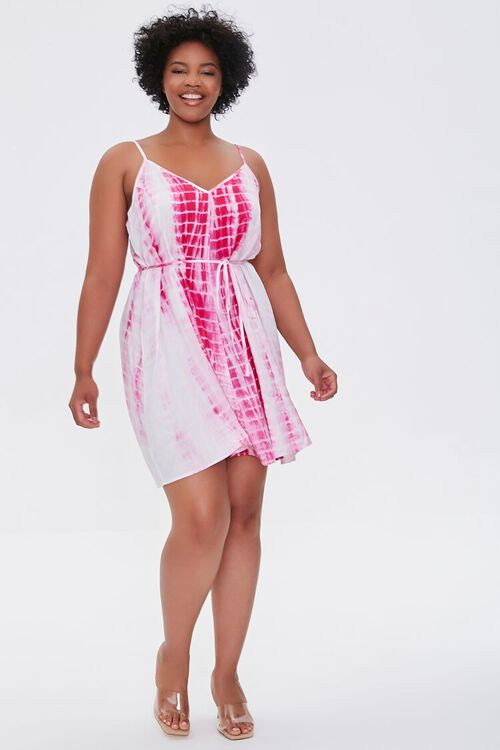 Plus Size Tie-Dye Mini Dress, image 4