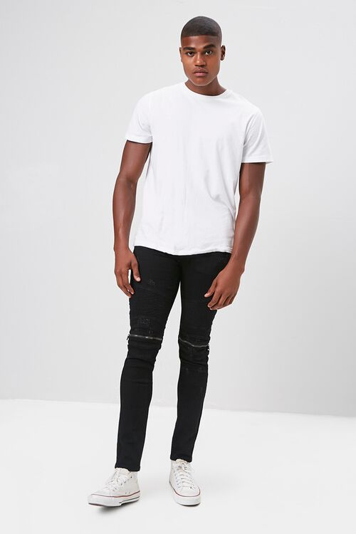 Zippered Moto Skinny Jeans, image 4