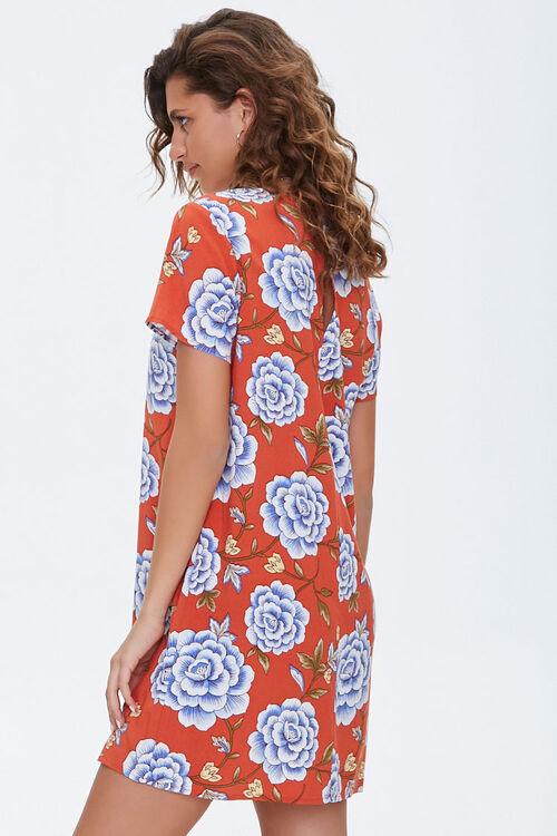 Floral Print Mini Shift Dress, image 2