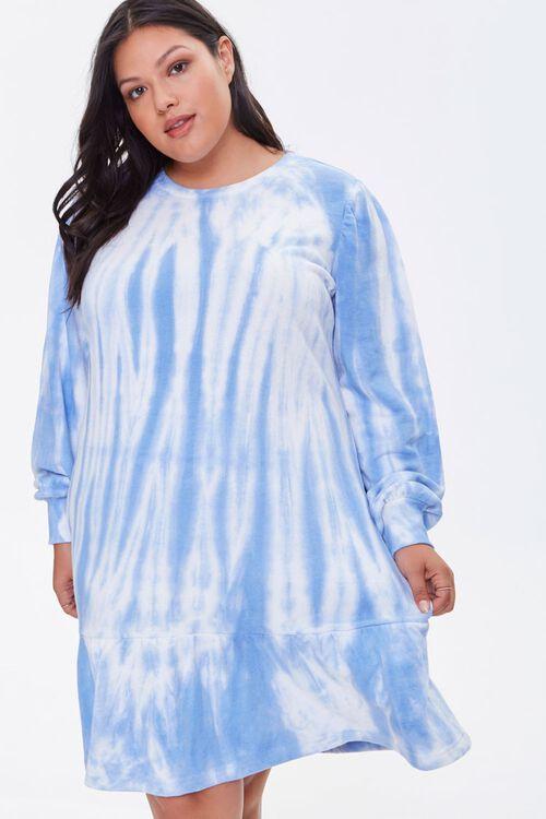 Plus Size Tie-Dye Sweatshirt Dress, image 1