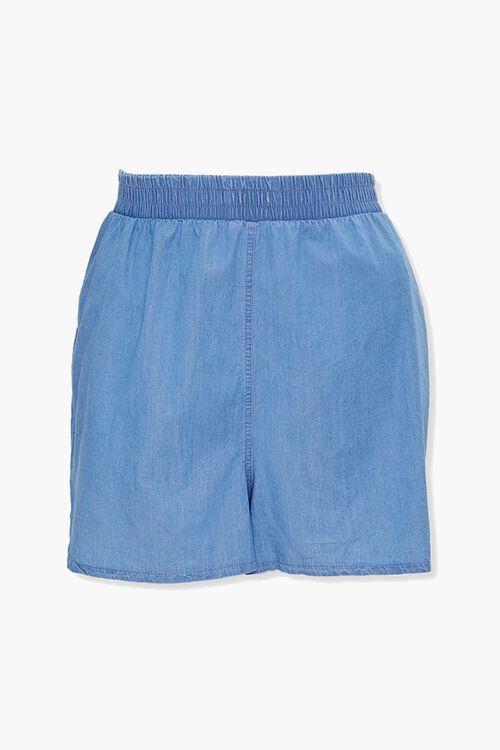 Plus Size Chambray Dolphin Shorts, image 1
