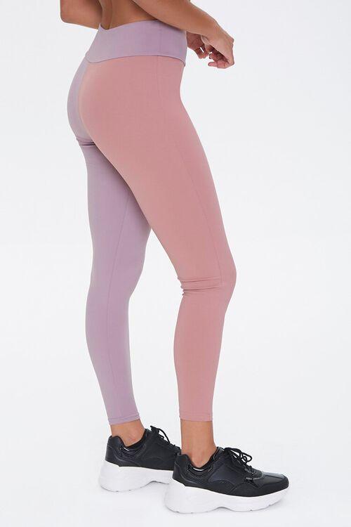 ROSE/LAVENDER Active Colorblock Leggings, image 3