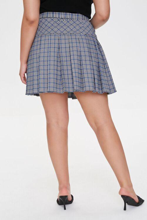 Plus Size Plaid Pleated Mini Skirt, image 4