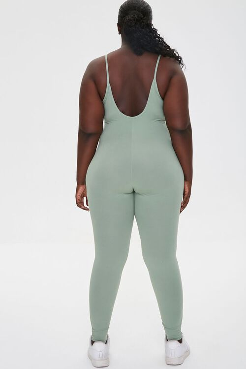 Plus Size Cami Scoop Jumpsuit, image 3