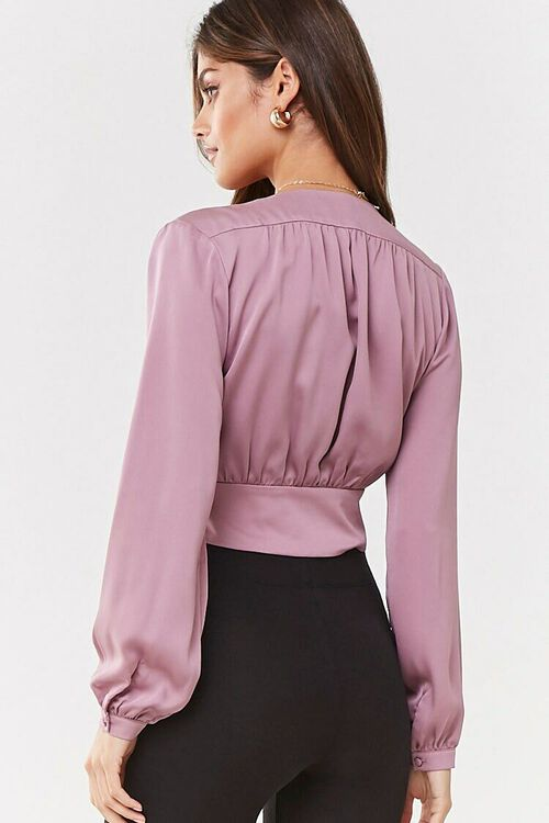 Plunging Button-Front Top, image 3