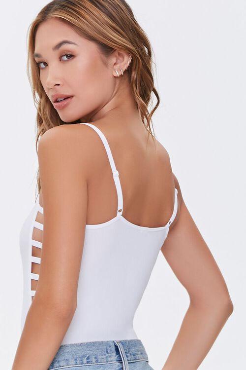 WHITE Ladder-Cutout Bodysuit, image 3