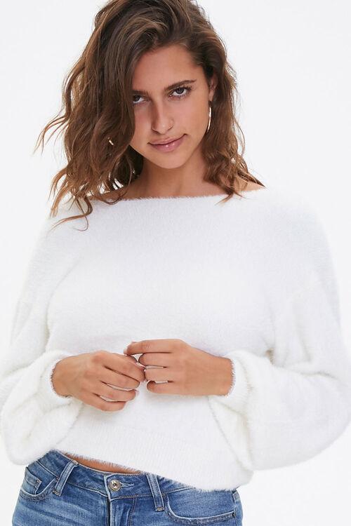 Plush Twist-Back Sweater, image 1