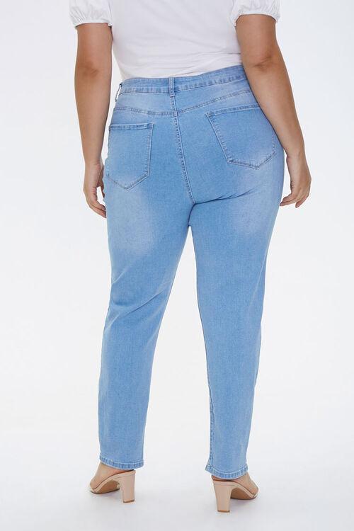Plus Size Slit-Hem Ankle Jeans, image 4