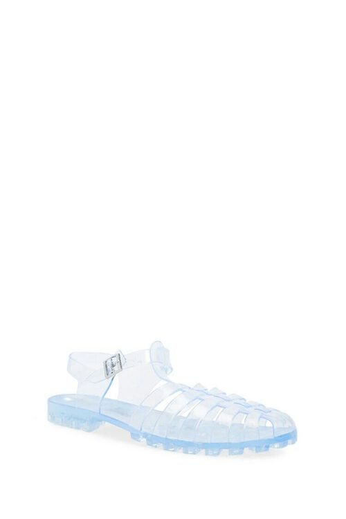 CLEAR Strappy Jelly Sandals, image 2