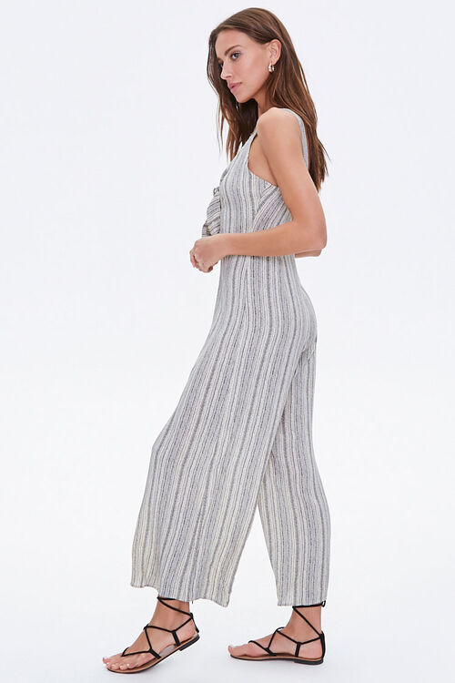 Striped Tie-Bust Jumpsuit, image 2