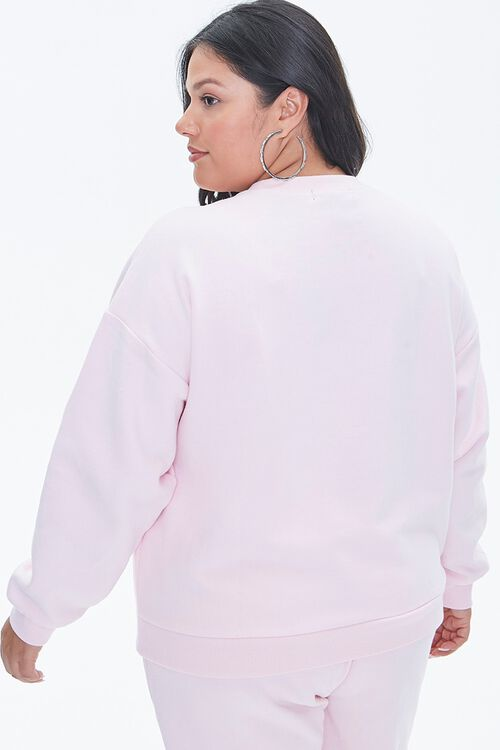 LIGHT PINK/PINK Plus Size Stand Up To Cancer Fighter Pullover, image 3
