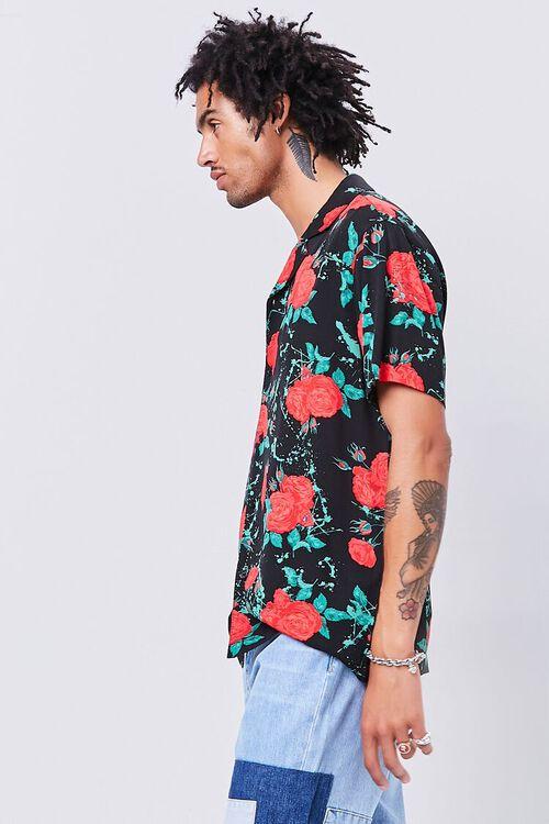Classic Fit Rose Print Shirt, image 2