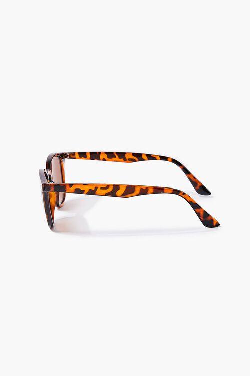 BROWN/MULTI Men Round Square Sunglasses, image 3