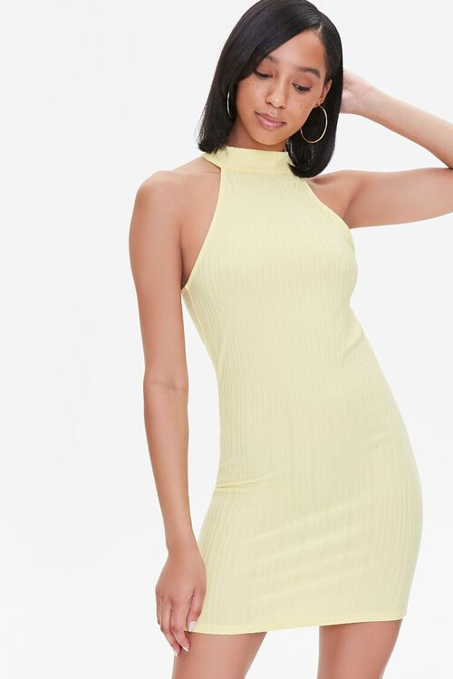 Ribbed Bodycon Mini Dress, image 1