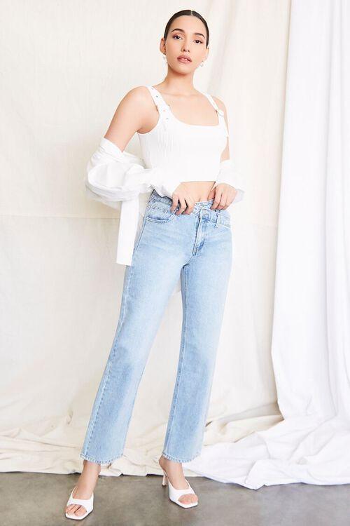 LIGHT DENIM Crisscross Waist 90s Fit Jeans, image 1
