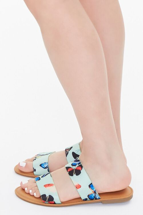 Butterfly Print Dual-Strap Sandals, image 2