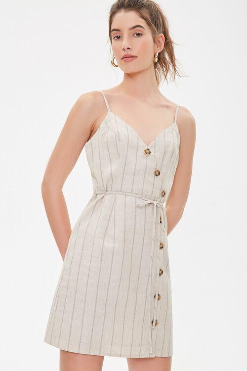 Striped Linen Cami Dress, image 1