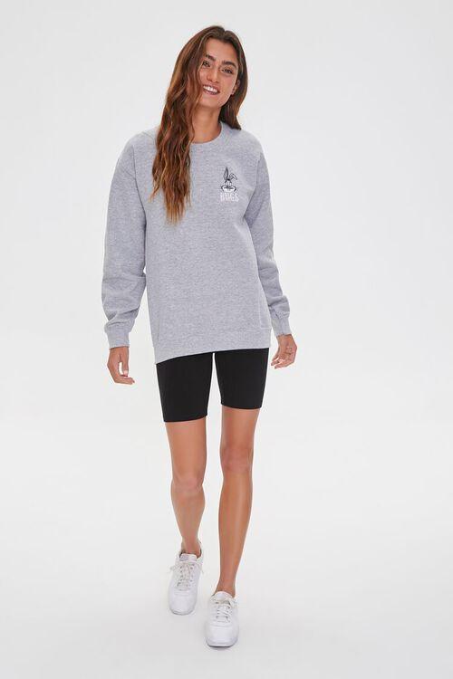 HEATHER GREY/MULTI Fleece Graphic Sweatshirt, image 4
