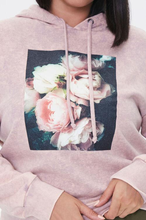 LAVENDER/MULTI Plus Size Floral Graphic Hoodie, image 5