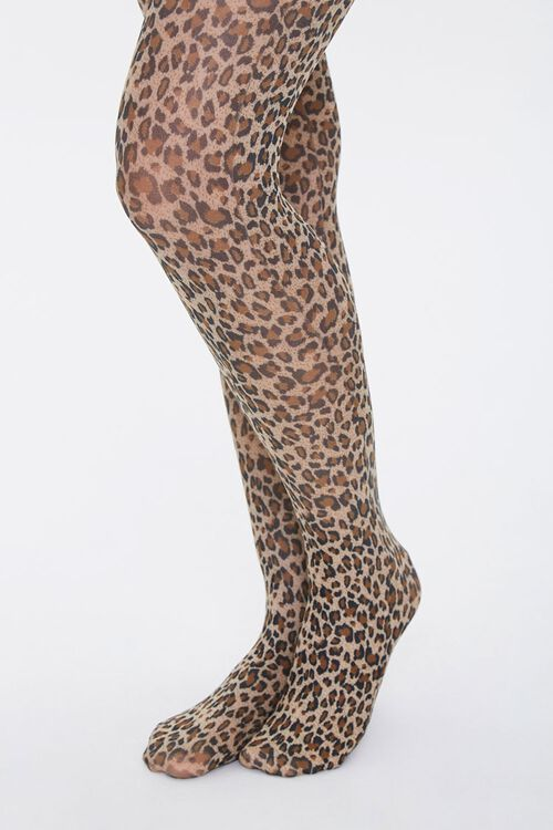 Leopard Print Tights, image 1