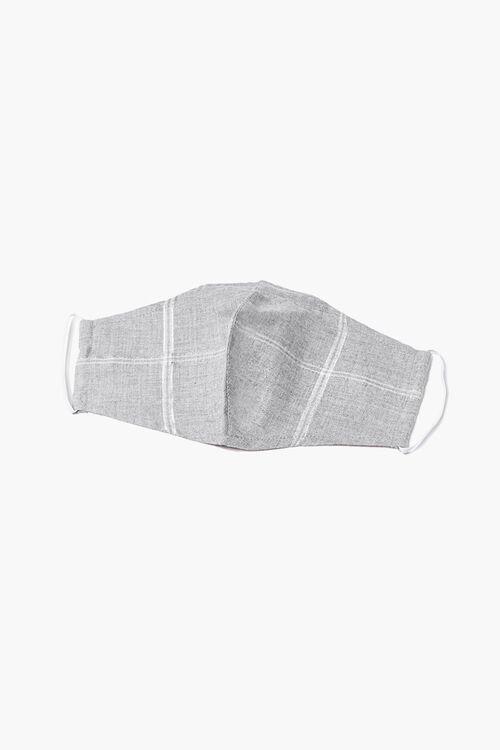 GREY/MULTI Plaid Face Mask, image 1