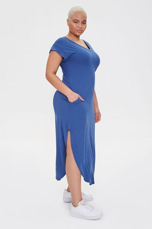 Plus Size Scoop-Hem Bodycon Dress, image 2