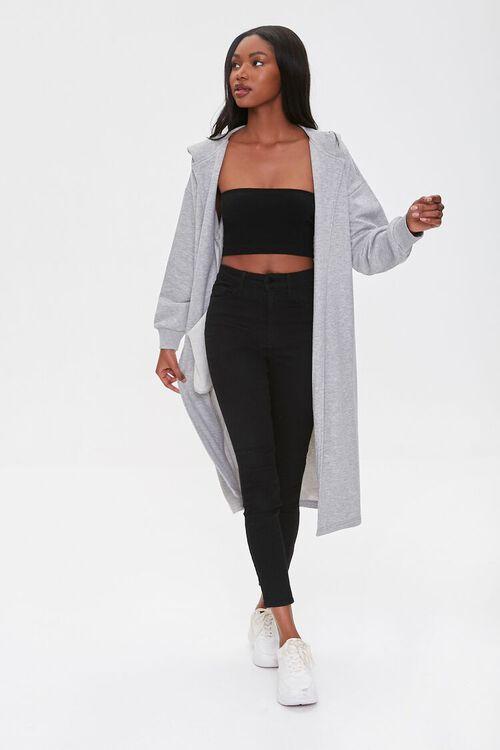 Hooded Longline Cardigan Sweater, image 2