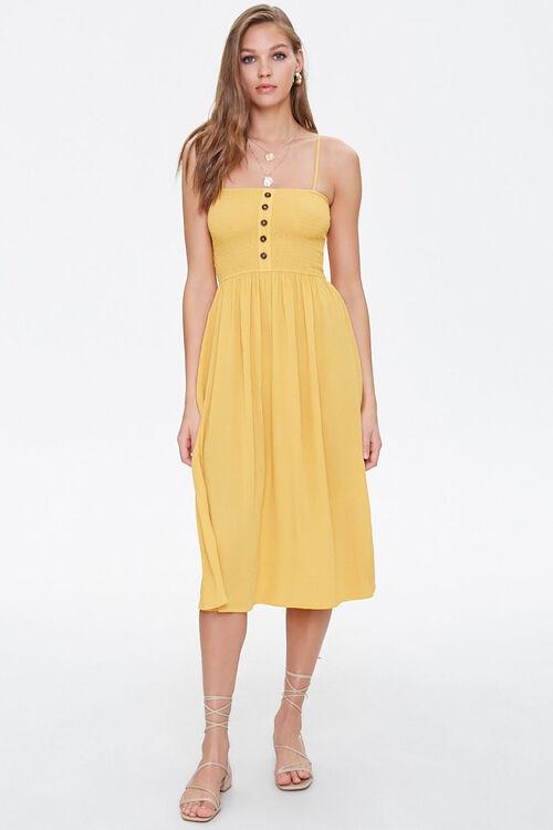 Smocked Cami Midi Dress, image 4
