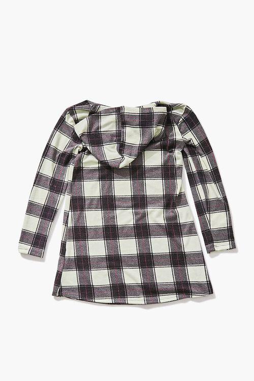 Girls Plaid Hooded Dress (Kids), image 2