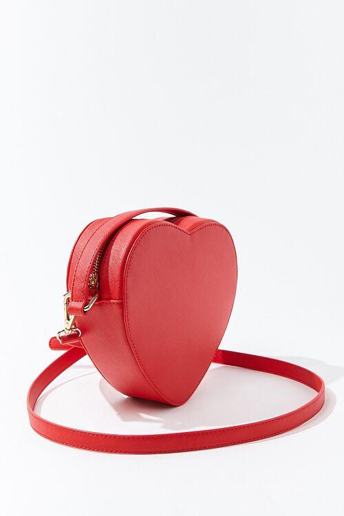 RED Heart-Shaped Crossbody Bag, image 2