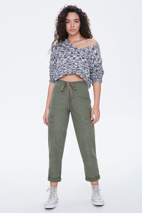 Marled High-Low Sweater, image 4
