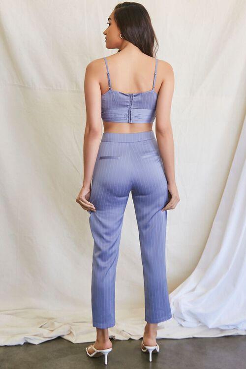 BLUE HAZE/CREAM Pinstriped Crop Top & Ankle Pants Set, image 3