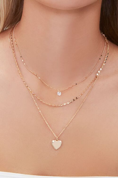 Heart Charm Layered Necklace, image 1
