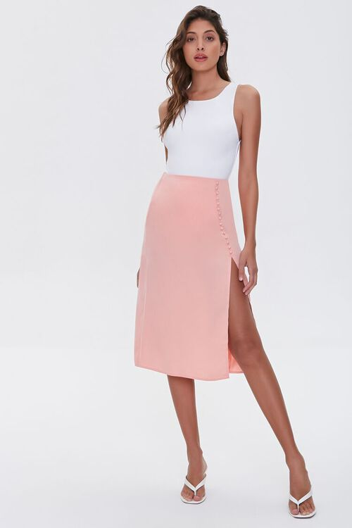 Button-Front Slit Skirt, image 5