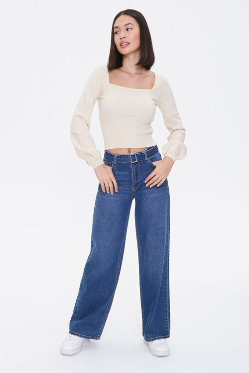 Ribbed Sweater-Knit Top, image 4