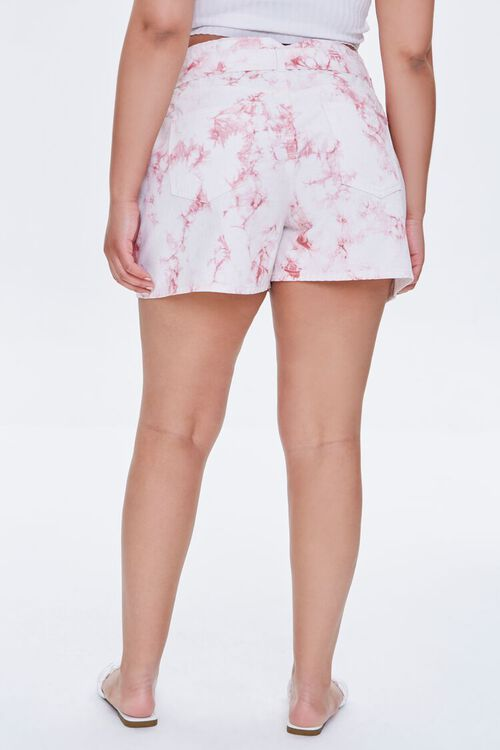 Plus Size Belted Tie-Dye Shorts, image 4