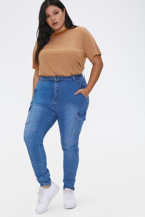 Plus Size Cargo Jeans, image 1