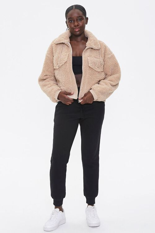 Faux Shearling Zip-Up Jacket, image 4